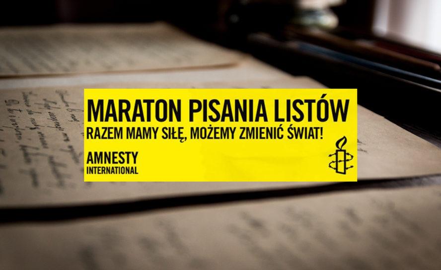 Maraton Pisania Listów 2016. Amnesty International Poznań